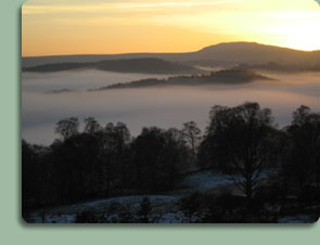 A cloud inversion over the Strathard, not far from Duke's Cottage