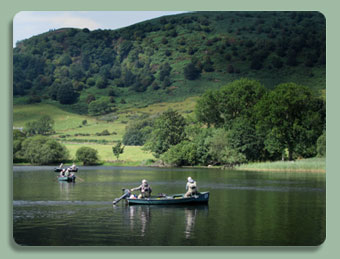 Spectacular scenery and some excellent trout fishing on the Lake of Menteith near Aberfoyle