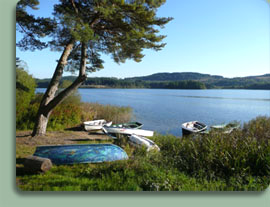 Loch Ard, only five minutes from the door of Duke's Cottage self catering cottage in the centre of Aberfoyle. The perfect tranquil getaway location